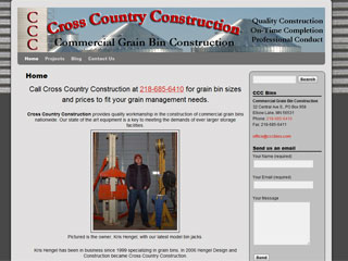 Commercial Grain Bin Construction