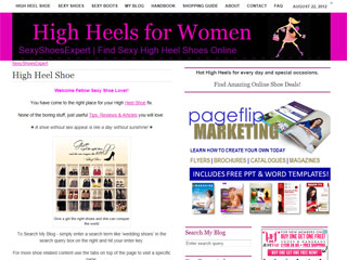 Website for Women High Heel Shoes