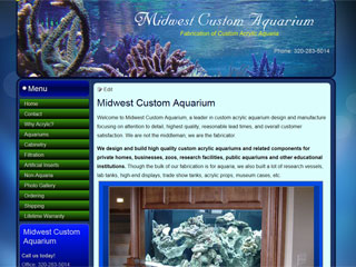 Custom made aquariums for home and business