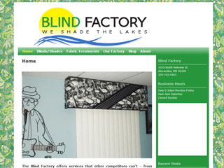 Blind Factory of Alexandria Minnesota