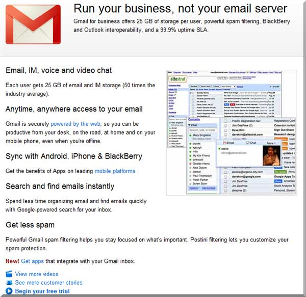 Business Email - Databae Systems Web Design