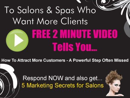 Free 2 minute marketing video for salons and spas