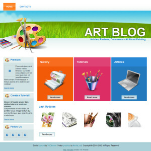 Art Blog Website Design