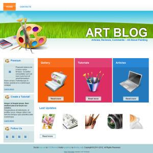 Art Blog Website Design