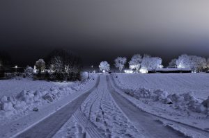 snow on road and local news online
